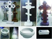 кресты памятники цветочницы бордюры  плиты