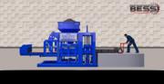 Станок для изготовления шлакоблоков с ручными управлениями